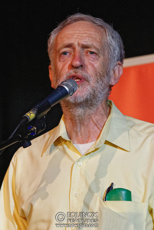 London, United Kingdom - 3 August 2015<br /> Labour leadership candidate Jeremy Corbyn MP speaking at the Grassroots for Jeremy campaign rally at the Camden Centre, King's Cross, London, England, UK.<br /> (photo by: Equinox Features/EQUINOXFEATURES.COM)<br /> <br /> Picture Data:<br /> Photographer: Equinox Features<br /> Copyright: ©2015 Equinox Licensing Ltd. +448700 780000<br /> Contact: Equinox Features<br /> Date Taken: 20150803<br /> Time Taken: 20062800<br /> www.newspics.com