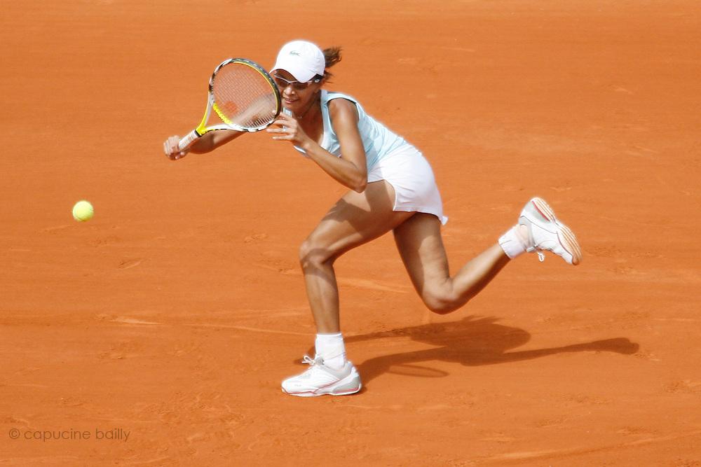 Roland Garros. Paris, France. May 31st 2007..2nd Round..Milagros SEQUERA against Serena WILLIAMS.