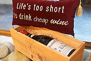 life is too short to drink cheap wine dom du vieux telegraphe chateauneuf du pape rhone france