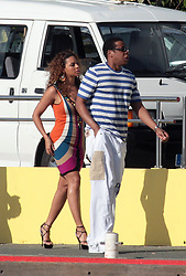 """File picture of JayZ and Beyonce strolling in St Barts Port enjoying St Barts lifestyle. The island was a paradise until September 6, 2017. Hurricane Irma left a trail of """"absolute devastation"""", destroying houses, snapping trees and killing at least eight persons as it tore across the tiny Caribbean island of St Barts on Wednesday with 185-mile-per-hour winds. Photo by Papixs/ABACAPRESS.COM"""