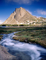 Mitchell Peak, Cirque of the Towers Popo Agie Wilderness Wind River Range Wyoming USA