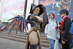 May 6, 2017 - Kiev, Ukraine - Participants dressed in costumes attend  the Kyiv Comic Con festival, in Kiev, Ukraine, on 6 May 2017. The festival attracts comics, manga, cosplay, movies and games fans. (Credit Image: © Serg Glovny via ZUMA Wire)