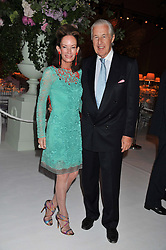 MR & MRS MARTIN SUMMERS at a dinner hosted by Cartier following the following the opening of the Chelsea Flower Show 2012 held at Battersea Power Station, London on 21st May 2012.