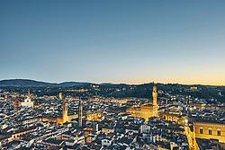 January 15, 2016 - ''High angle city view from Giotto's Campanile at dusk, Florence, Italy' (Credit Image: © Gu/Bildbyran via ZUMA Press)