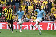 Riyad Mahrez (26) of Manchester City during the The FA Cup Final match between Manchester City and Watford at Wembley Stadium, London, England on 18 May 2019.