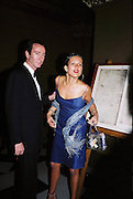 Sophie Anderton and Robert Hanson. Wong party. Old  Royal Naval College, Greenwich. 3/2/01. © Copyright Photograph by Dafydd Jones 66 Stockwell Park Rd. London SW9 0DA Tel 020 7733 0108 www.dafjones.com