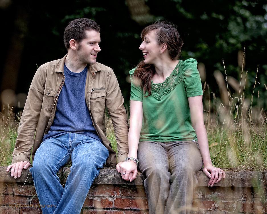 Alistair & Heidi's pre wedding photographs at Wollaton Park, Nottingham