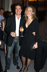 KATE PAKENHAM and CHRISTOPHER SPIRA at a party to celebrate the opening of W'Sens - a new fine french restaurant at 12 Waterloo Place, London SW1 on 10th December 2004.<br /><br />NON EXCLUSIVE - WORLD RIGHTS