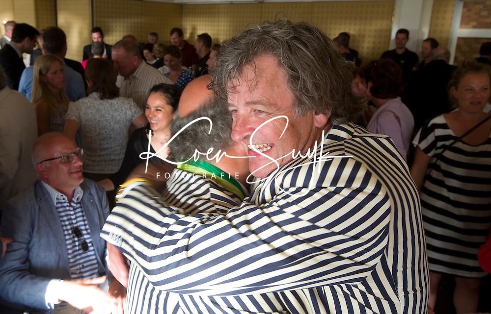 SCHEVENINGEN  (Den Haag) - Johan Wakkie (l) met  Lex Donia . COPYRIGHT KOEN SUYK