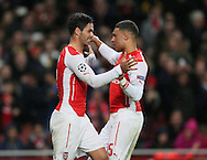 Arsenal's Mikel Arteta celebrates scoring his sides opening goal<br /> <br /> - Champions League Group D - Arsenal vs Anderlecht- Emirates Stadium - London - England - 4th November 2014  - Picture David Klein/Sportimage