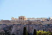 Greece, Athens, Acropolis hill as seen from the North