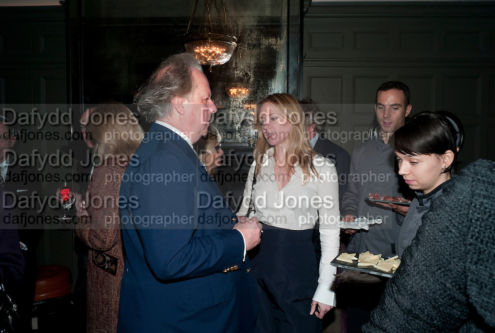 GRAYDON CARTER; KATE REARDON, Graydon and Anna Carter host a lunch for Carolina Herrera to celebrate the ipening of her new shop on Mount St. .The Connaught. London. 20 January 2010