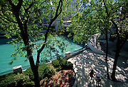 Image of a park along Magnificent Mile overlooking the Chicago River in Chicago, Illinois, American Midwest by Andrea Wells