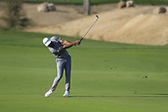 Dustin Johnson (USA) on the 18th fairway during the final round of  the Saudi International powered by Softbank Investment Advisers, Royal Greens G&CC, King Abdullah Economic City,  Saudi Arabia. 02/02/2020<br /> Picture: Golffile   Fran Caffrey<br /> <br /> <br /> All photo usage must carry mandatory copyright credit (© Golffile   Fran Caffrey)