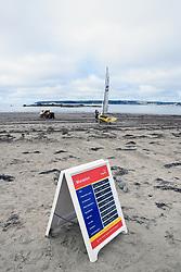 Lifeguard information on Marazion beach, Cornwall UK