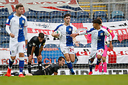 2-2, goal celebration by Joseph Rankin-Costello of Blackburn Rovers during the EFL Cup match between Blackburn Rovers and Doncaster Rovers at Ewood Park, Blackburn, England on 29 August 2020.