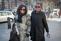 © Licensed to London News Pictures. 05/03/2019. London, UK. Labour MP Fiona Onasanya (R) arrives at the Royal Courts of Justice ahead of an appeal. The Peterborough MP was jailed for three months after being found guilty of perverting the course of justice after lying to police to avoid a speeding charge. Photo credit: Peter Macdiarmid/LNP