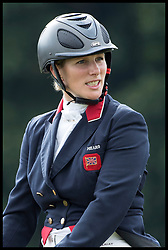 August 5, 2017 - United Kingdom - Image licensed to i-Images Picture Agency. 05/08/2017. Gatcombe Park, United Kingdom. Zara Tindall after competing in the dressage event on her horse BGS Class Affair  on the second day of the Festival of British Eventing at Gatcombe Park, United Kingdom.  Picture by Stephen Lock / i-Images (Credit Image: © Stephen Lock/i-Images via ZUMA Press)