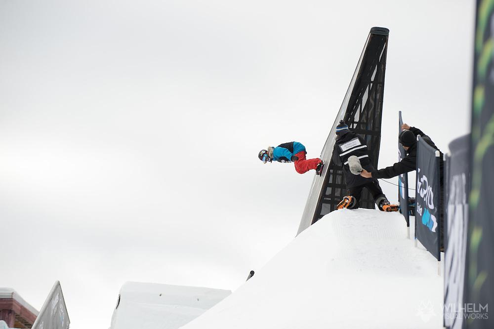 Kjersti Oestgaard Buaas during Women's Snowboard Slopestyle Finals during 2015 X Games Aspen at Buttermilk Mountain in Aspen, CO. ©Joshua Duplechian/ESPN