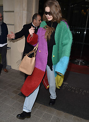 Gigi Hadid says goodbye to Paris as she is seen leaving her hotel to catch a flight back to NY. 05 Mar 2019 Pictured: Gigi Hadid. Photo credit: Neil Warner/MEGA TheMegaAgency.com +1 888 505 6342