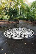 Strawberry Fields Forever - the memorial to John Lennon in Central Park, New York City.