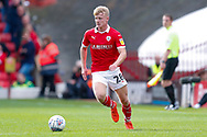 Barnsley defender Ben Williams (28) in action  during the EFL Sky Bet League 1 match between Barnsley and Luton Town at Oakwell, Barnsley, England on 13 October 2018.