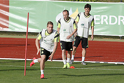 28.05.2014, Madrid, ESP, FIFA WM, Vorbereitung Spanien, Training, im Bild Gerard Deulofeu, Andres Iniesta and David Jimenez Silva // during a practice session at the Trainingscamp of Team Spain for Preparation of the FIFA Worldcup Brasil 2014, Madrid, Spain on 2014/05/28. EXPA Pictures © 2014, PhotoCredit: EXPA/ Alterphotos/ Acero<br /> <br /> *****ATTENTION - OUT of ESP, SUI*****