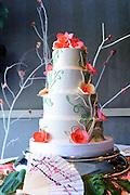 Japanese cherry blossom wedding cake by Tallmadge wedding photographer, Akron wedding photographer Mara Robinson Photography