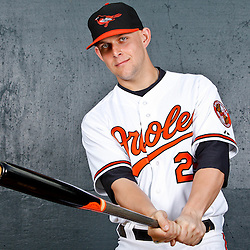 February 26, 2011; Sarasota, FL, USA; Baltimore Orioles first baseman Brandon Snyder (29) poses during photo day at Ed Smith Stadium.  Mandatory Credit: Derick E. Hingle