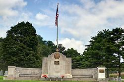 31 August 2017:   Veterans graves in Park Hill Cemetery in eastern McLean County.<br /> <br /> American Legion Memorial