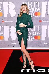 Abbey Clancy attending the Brit Awards 2019 at the O2 Arena, London. Photo credit should read: Doug Peters/EMPICS Entertainment. EDITORIAL USE ONLY