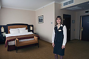 Moscow, Russia, 28/03/2012..Luxury room inside the Hotel Arbat.