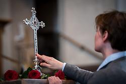 14 April 2017, Stockholm, Sweden: Good Friday service in Högalid Church, Church of Sweden.