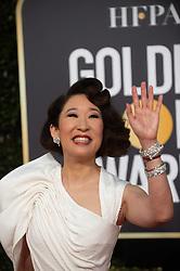 January 6, 2019 - Beverly Hills, California, U.S. - Golden Globes Host SANDRA OH arrives at the 76th Annual Golden Globe Awards at the Beverly Hilton in Beverly Hills, CA on Sunday, January 6, 2019. (Credit Image: © HFPA via ZUMA Wire/ZUMAPRESS.com)