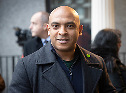 © Licensed to London News Pictures. 27/01/2020. London, UK. Karim Mussilhy of the Grenfell United Survivor's Group arrives for phase two of the Grenfell Inquiry. The second part of the inquiry into the fire that claimed the lives of 72 residents will consider important wider issues around the refurbishment and management of the Tower. Photo credit: Peter Macdiarmid/LNP