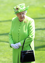 Her Majesty The Queen during day one of Royal Ascot at Ascot Racecourse.