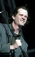 Electric Six - Dick Valentine also know as Tyler Spencer, Glastonbury Festival, Somerset, Britain - 27 June 2003.