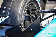 24-26 August, 2012, Sonoma, California USA.Simon Pagenaud (77)'s smoking brake. .(c)2012, Jamey Price.LAT Photo USA