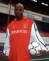 Sylvian Wiltord (Arsenal). Arsenal 0:0 Derby County, F.A.Carling Premiership, 11/11/2000. Credit / Colorsport / Stuart MacFarlane.