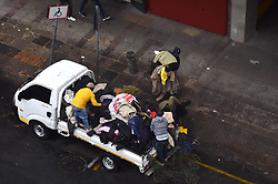 South African - Johannesburg - 16 June 2020 - Hawkers load 2nd hand jackets to be sold to the public in CBD. Most parts of Gauteng is experiencing cold and rainy weather.<br />Picture: Itumeleng English/Africa News Agency(ANA)