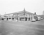 """Ackroyd 03408-4. """"Kaiser Frazer Corp. Tonkin Motor Co. February 6, 1952"""" store at SE Grand at Oak."""
