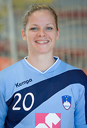 Portrait of Neza Mitrusevska of Slovenian Handball Women National Team, on June 3, 2009, in Arena Kodeljevo, Ljubljana, Slovenia. (Photo by Vid Ponikvar / Sportida)