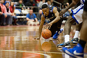 DALLAS, TX - JANUARY 6:  James Woodard #10 of the Tulsa Golden Hurricane dives for a loose ball against the SMU Mustangs on January 6, 2013 at Moody Coliseum in Dallas, Texas.  (Photo by Cooper Neill/Getty Images) *** Local Caption *** James Woodard