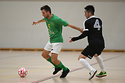 Central player Kenny Santy in action in the Mens Futsal Superleague match, Central v Capital, Pettigrew Green Arena, Napier, Saturday, September 28, 2019. Copyright photo: Kerry Marshall / www.photosport.nz