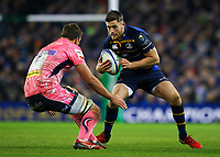Rugby Union - 2017 / 2018 European Rugby Champions Cup - Pool Three: Leinster vs. Exeter Chiefs<br /> <br /> Leinster's Ross Byrne and Exeter's Sam Skinner, at Aviva Stadium, Dublin.<br /> <br /> COLORSPORT/KEN SUTTON