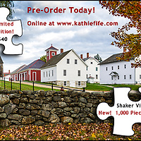 Fall at Canterbury Shaker Village, NH, USA.<br /> <br /> 1,000 Piece Puzzle. Measures 20x28 when finished. <br /> <br /> Customers have told me they love this puzzle and it is challenging! <br /> <br /> IN STOCK - ONLY FOUR LEFT. <br /> <br /> Ready to ship. <br /> <br /> Proudly Made in NH, USA!<br /> <br /> <br /> All Content is Copyright of Kathie Fife Photography. Downloading, copying and using images without permission is a violation of Copyright.