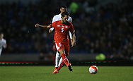 Levent Guelen, Swiss U21 International during the UEFA European Championship Under 21 2017 Qualifier match between England and Switzerland at the American Express Community Stadium, Brighton and Hove, England on 16 November 2015.