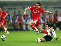 v.l. Ebi Smolarek, Michael Ballack Deutschland<br /> Fussball WM 2006 Deutschland - Polen<br /> Tyskland - Polen<br /> Norway only