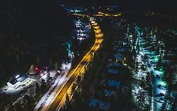 THEMENBILD - Strasse und Landschaft in der Nacht, aufgenommen am 24. November 2018 in Ruka, Finnland // Road and landscape at night, Ruka, Finland on 2018/11/24. EXPA Pictures © 2018, PhotoCredit: EXPA/ JFK