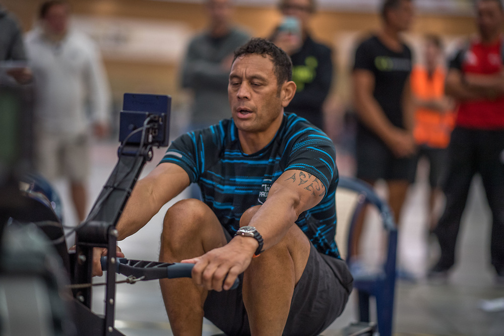 Richard Pehi MALE HEAVYWEIGHT Masters D 2K Race #2  08:45am<br /> <br /> www.rowingcelebration.com Competing on Concept 2 ergometers at the 2018 NZ Indoor Rowing Championships. Avanti Drome, Cambridge,  Saturday 24 November 2018 © Copyright photo Steve McArthur / @RowingCelebration